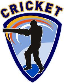 Free Cricket Sports Player Batsman Royalty Free Stock Image - 16751886