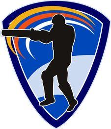 Free Cricket Sports Player Batsman Royalty Free Stock Photos - 16751888