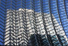 Reflection Of A Building Royalty Free Stock Photos