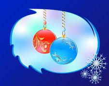 Christmass Glass Balls Stock Photos