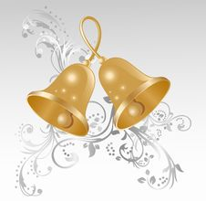 Free Two Gold Handbells Royalty Free Stock Photos - 16751978