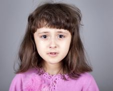 Young Brunet Girl Cry. Stock Image