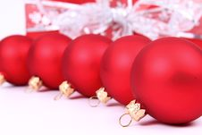 Free Christmas Balls And Gift Background Stock Photos - 16752763