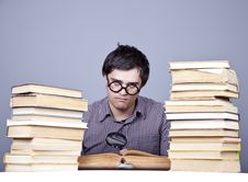 Free The Young Student With The Books Isolated. Stock Images - 16752974