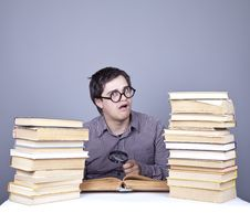 Free The Young Student With The Books Isolated. Stock Image - 16752981