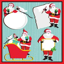 Free Santa Stickers And Tags Royalty Free Stock Images - 16752989