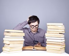 Free The Young Student With The Books Isolated. Royalty Free Stock Photos - 16752998