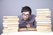 Free The Young Student With The Books Isolated. Stock Photos - 16753003