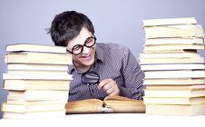 Free The Young Student With The Books Isolated. Royalty Free Stock Images - 16753009