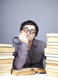 Free The Young Student With The Books Isolated. Royalty Free Stock Image - 16753016