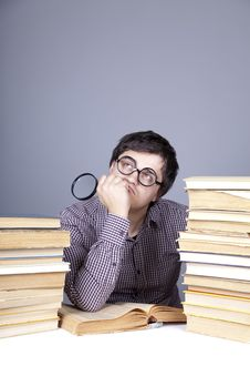 Free The Young Student With The Books Isolated. Stock Image - 16753021