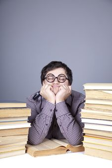 Free The Young Student With The Books Isolated. Stock Image - 16753031