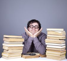 Free The Young Student With The Books Isolated. Royalty Free Stock Image - 16753046