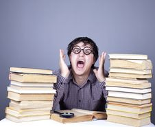 Free The Young Student With The Books Isolated. Royalty Free Stock Photo - 16753105