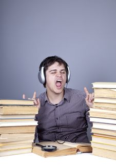 Free The Young Student With The Books Isolated. Stock Photos - 16753113