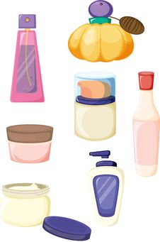 Free Cosmetic Bottles Royalty Free Stock Images - 16754179
