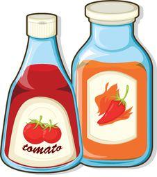 Free Sauce Bottles Stock Photo - 16754190