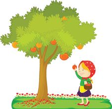 Free Girl Under A Tree Royalty Free Stock Images - 16754199