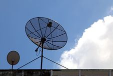 Free Big And Small Satellite Dish Stock Image - 16754741