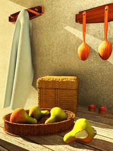 Free Interior With Fruit Royalty Free Stock Image - 16755126