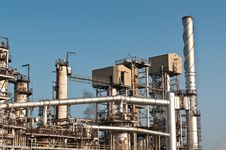 Petrochemical Refinery Plant Stock Photo