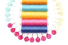 Free Colorful Threads And Pins Stock Image - 16755351