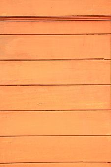 Orange Wood Wall Royalty Free Stock Image