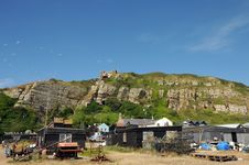 Free Fishing Huts And Boats, East Hill, Hastings Royalty Free Stock Photography - 16756797