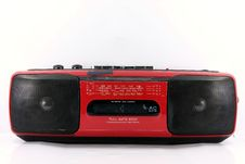 Free Red Cassette Player Royalty Free Stock Image - 16757006