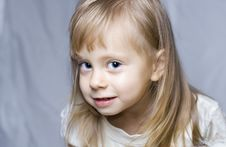 Free Beautiful Little Girl Making Funny Face Stock Images - 16757954