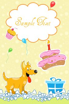 Free Puppy In Birthday Card Stock Photos - 16758203