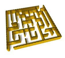 Free Gold Labyrinth Royalty Free Stock Photo - 16758435