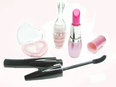 Free Cosmetic Set For Makeup Royalty Free Stock Photography - 16758527