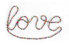 Free Love Writing Symbol Made By Necklace Royalty Free Stock Photos - 16758618
