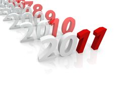 Free 3D Years Till 2011 Royalty Free Stock Images - 16758989