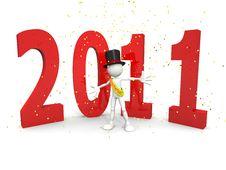 Free Happy 2011! Royalty Free Stock Photo - 16759055