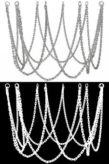 Free Metal Chain. 3D Illustration Stock Images - 16759614