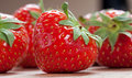 Free Strawberry With Green Leaf Royalty Free Stock Image - 16761046