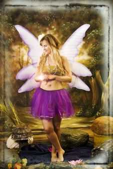 Free Fantasy Portrait With Wings Stock Photography - 16760432
