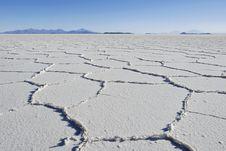 Tunupa Salt Flats Royalty Free Stock Photography