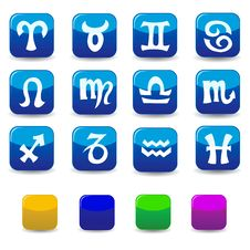 Icons And Signs Of The Zodiac Stock Photography