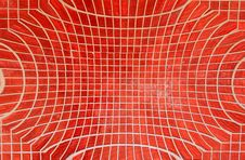 Red Mosaic Tiles Royalty Free Stock Photo