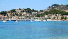Spectacular Blue Beaches Of Soller, Spain Stock Photo
