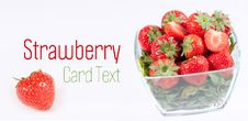 Free Strawberry With Green Leaf Stock Images - 16761034