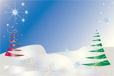 Free Christmas Tree Illustration Royalty Free Stock Images - 16761099