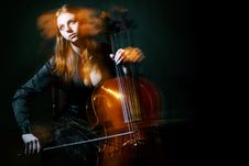 Free Cello Musician, Mystical Music Stock Photos - 16762293