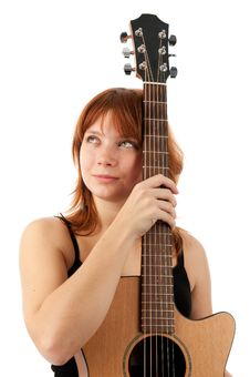 Free Young Girl Playing Guitar Royalty Free Stock Photos - 16762338