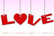 Free Hanging Love Royalty Free Stock Photos - 16762738