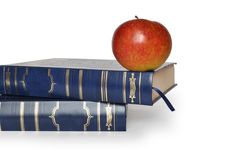 Book And Apple Royalty Free Stock Images