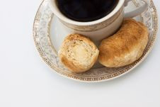 Free Cup Of Coffee And Croissants Stock Photo - 16763050